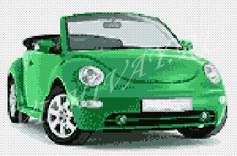 Фольксваген Жук – зеленый