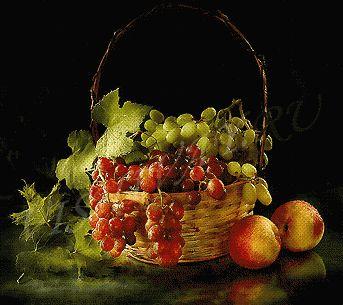 Схема виноград вышивка крестом - Как!