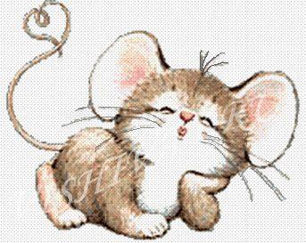 """41 см, игла вышивальная, маркер для ткани, схема, мулине...  Инструкция к вышивке  """"Влюбленная мышка """" ."""