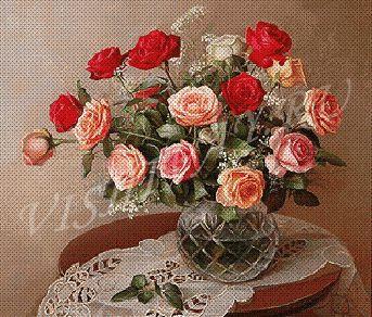 Схемы вышивки крестиком цветов бесплатно: розы, маки, орхидеи 86