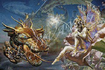 Наборы для вышивки крестом дракон