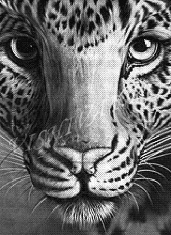 Леопард схема вышивки скачать