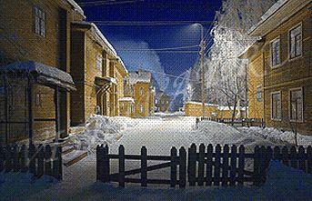 Январская улочка