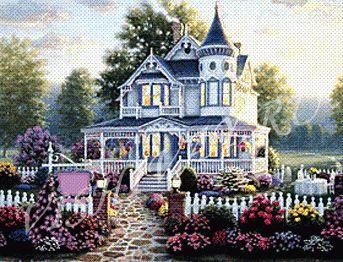 Схемы вышивки сказочные домики