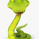 Клипарт в PNG Символ года 2013 Змейки 3D.
