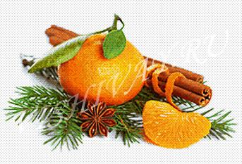 Новогодний мандарин