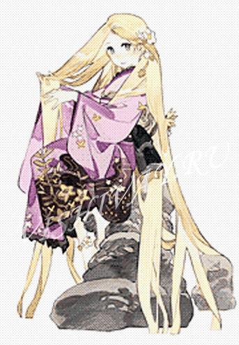 Принцессы в кимоно_Рапунцель