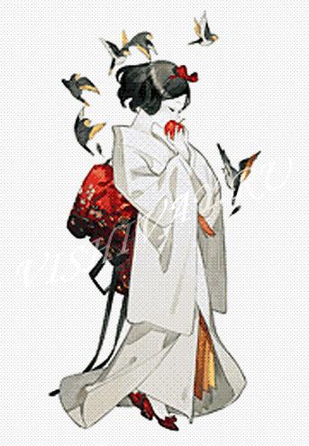 Принцессы в кимоно_Белоснежка