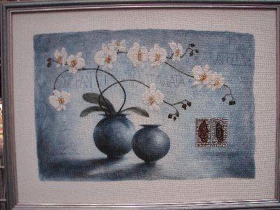 Расширенное описание для Набор для вышивки Орхидеи в голубом.